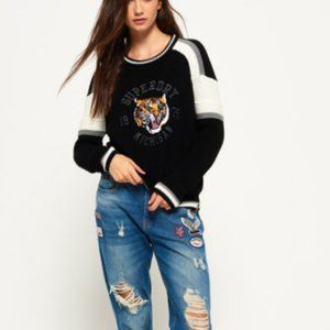 SUPERDRY Preppy Blocked Knit Tiger Jumper